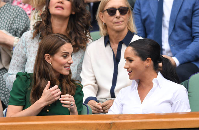 Meghan Markle wore her hair up for her trip to Wimbledon