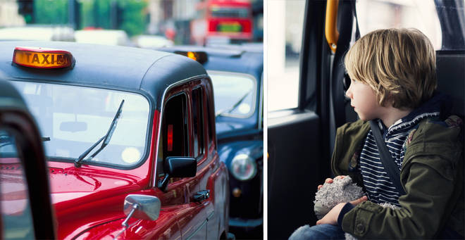 One mum was furious that her children were put in a taxi alone