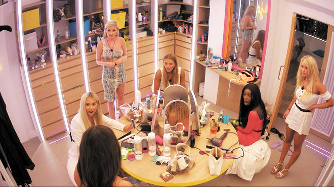 The Love Island girls are treated to some beauty treatments