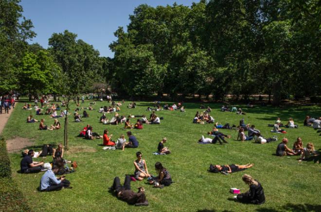 A sunny London park