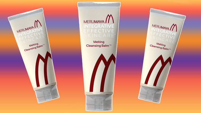 Merumaya melting balm contains sweet almond oil and smells gorgeous