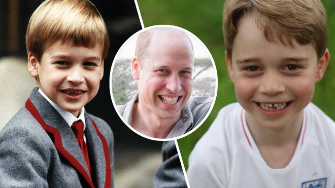 Prince George is the spitting image of his dad Prince William in new birthday photos