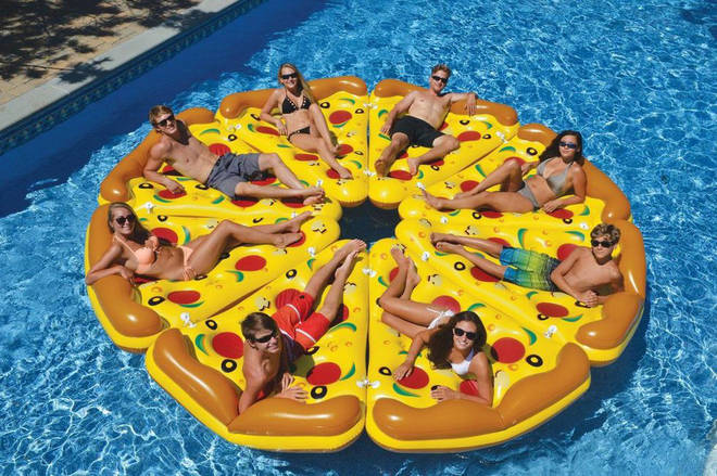 Otto Simon's pizza slice float is ideal for summer