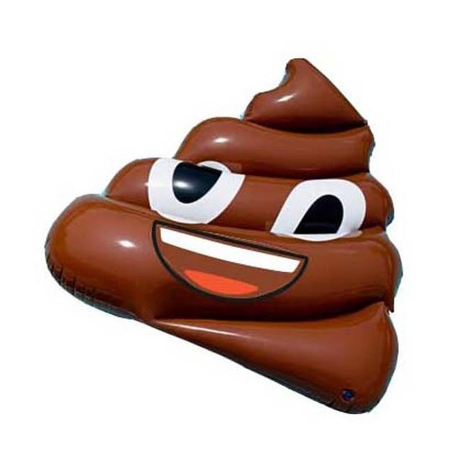 Would you buy this poo Emoji pool float?
