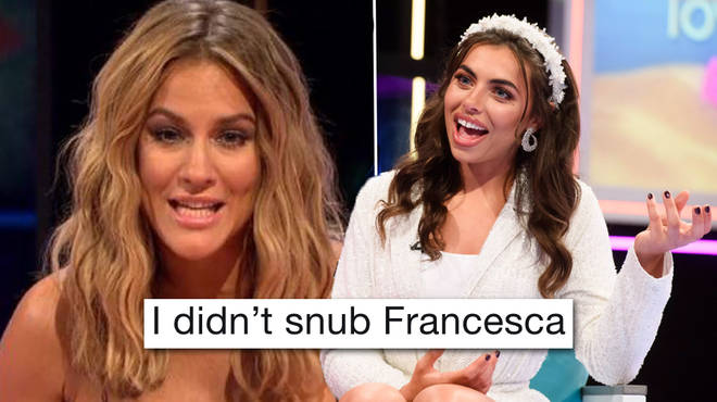 Caroline Flack claps back at claims she 'snubbed' Francesca on Love Island's Aftersun last night