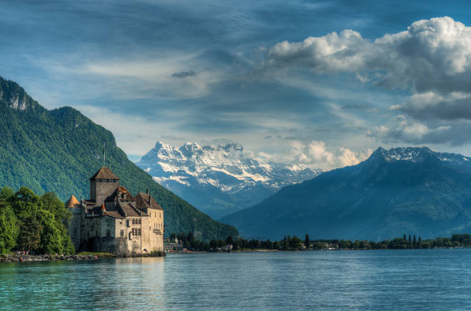 Chateau de Chillon is a 40 minute train or car ride from Lausanne