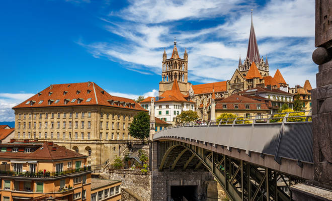 The medieval city of Lausanne is ideal for wine lovers or people looking to embrace Swiss culture