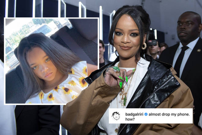 Rihanna can't believe how much this little girl looks like her!