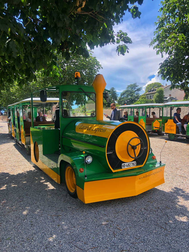 The Lavaux Express is cute - and so fun to take a trip on