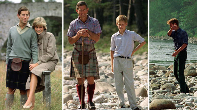 When Prince William and Harry were younger, they visited Balmoral with dad Prince Charles and their mother, Princess Diana