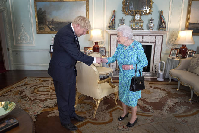 The Queen met with Boris Johnson at Buckingham Palace