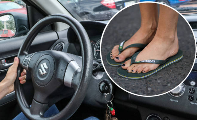 While it's isn't actually illegal to wear flip flops behind the wheel, it isn't advised.