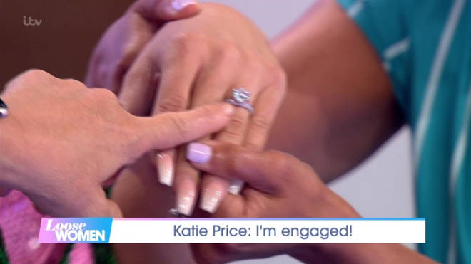 Katie Price showed off her ring on Loose Women earlier today