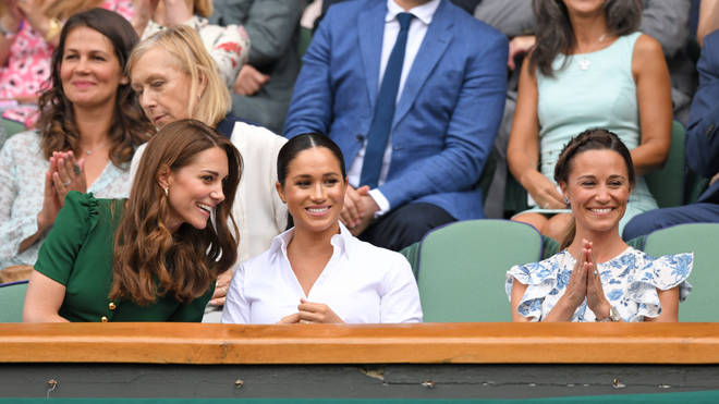 Kate and Meghan were spotted enjoying a day out at Wimbledon 2019.