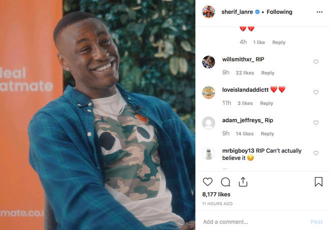 Fans flooded Sherif's Instagram with comments of respect after the death hoax