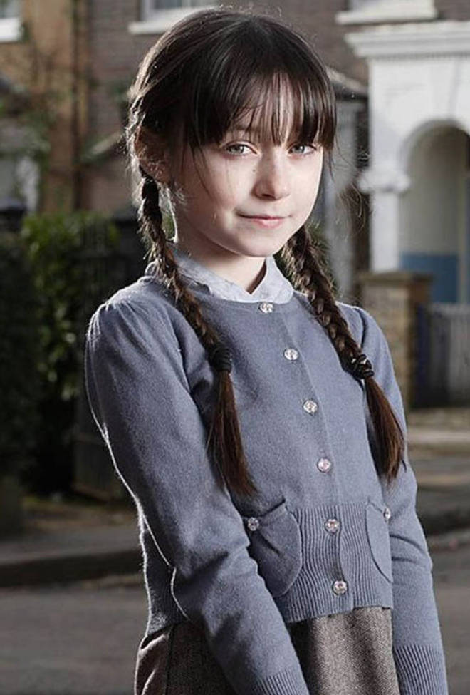 Molly Colin played the evil litter girl on the hit BBC soap