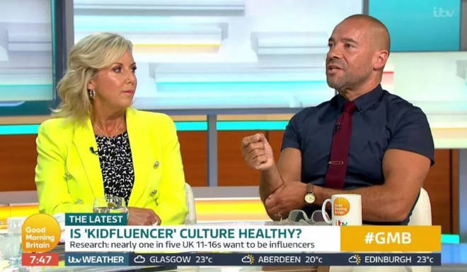 'Kidfluencer' culture was discussed on GMB earlier today