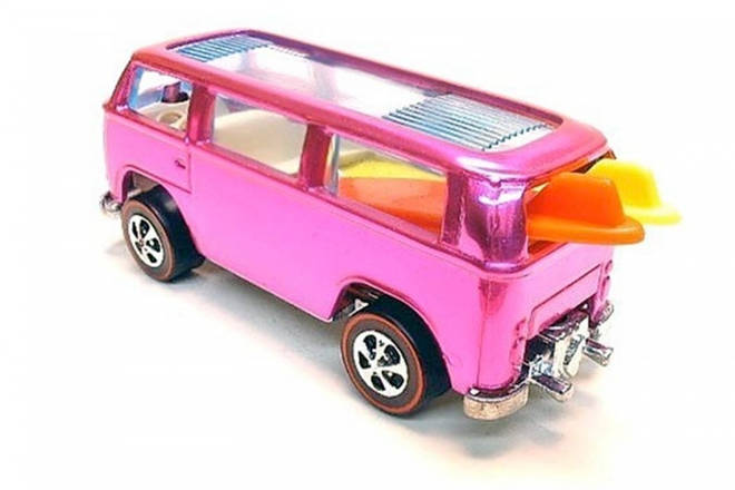 "The Hot Wheels 1969 VW Camper Van ""Beach Bomb"" Prototype is worth £120,000"