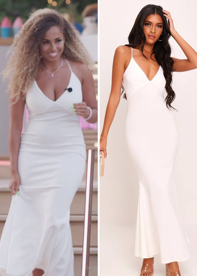 Amber looked amazing in a white gown for the Summer Ball