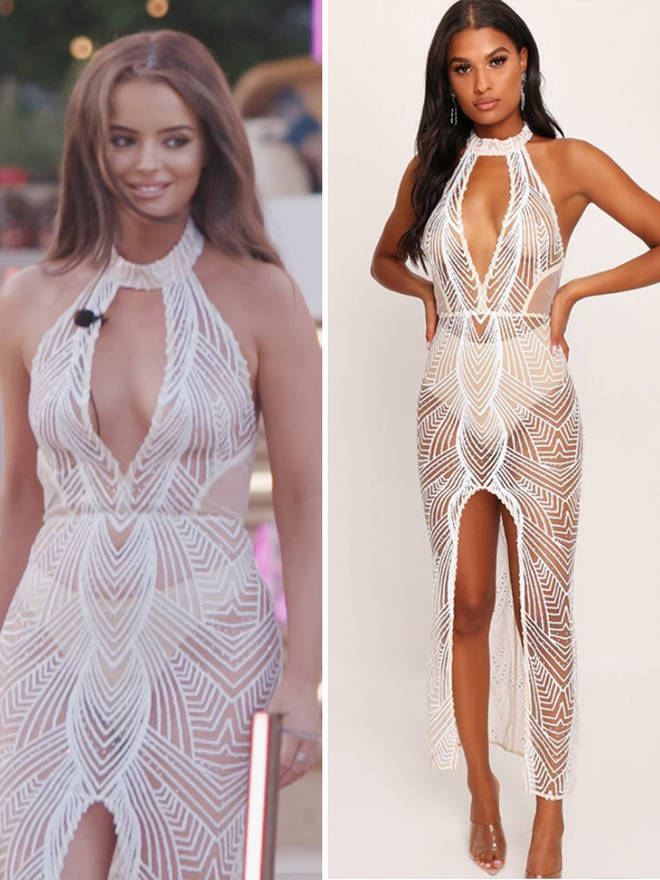 Maura opted for a white mesh see-through dress for the ball