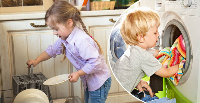 Parents divided over children's 'chore guide' claiming two-year ...