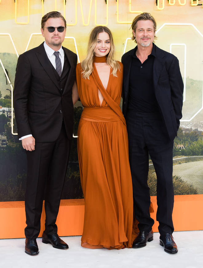 Leonardo DiCaprio, Brad Pitt and Margot Robbie were all smiles on the red carpet in London