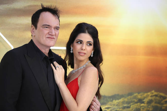 Quentin Tarantino and his wife Daniela Pick looked loved-up at the premiere