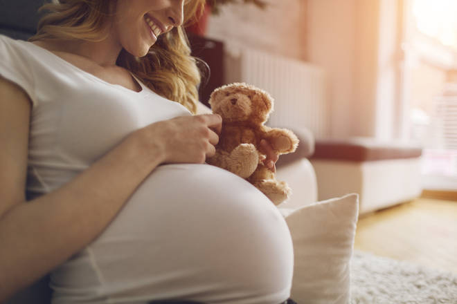 The NHS recommends that pregnant women take a folic acid supplement (stock image)