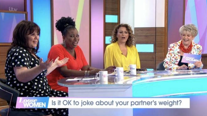 The other Loose Women panellists looked on awkwardly
