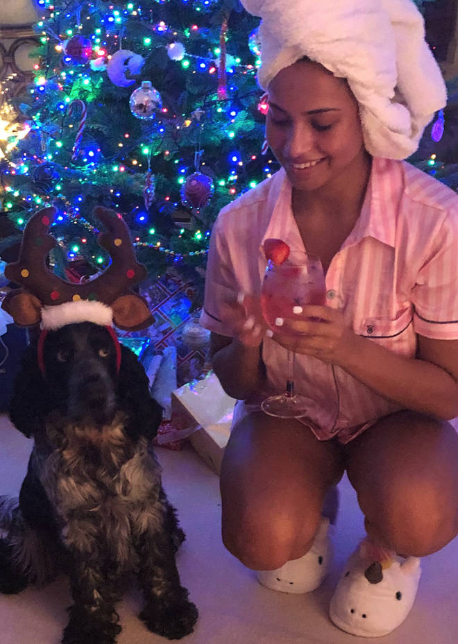 Amber spoke of her beloved dog while in the Love Island villa