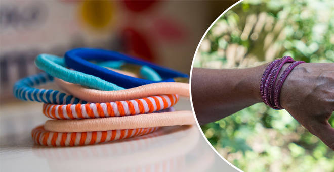 The woman has issued a warning to people who keep hair ties on their wrist (stock images)