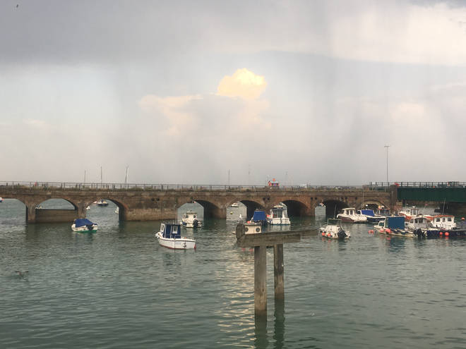 You can lose yourself in thought taking in the views of Folkestone harbour