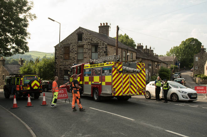 A 'danger to life' warning is in place in Whaley Bridge