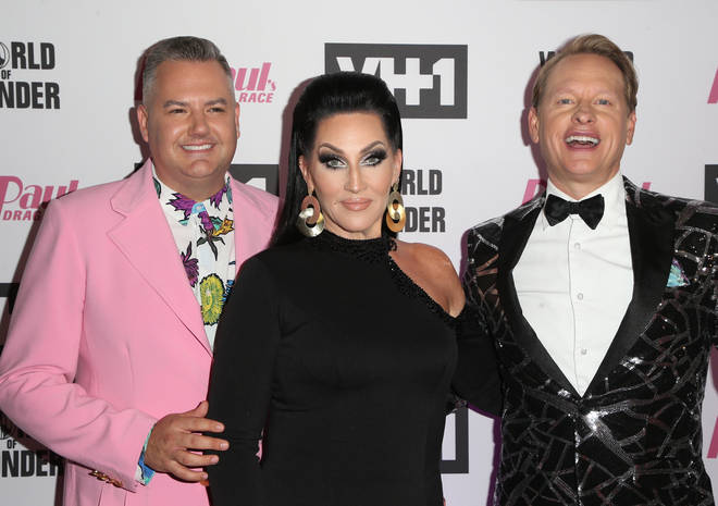 Michelle (pictured with Ross Matthews and Carson Kressley) is a judge on RuPaul's Drag Race