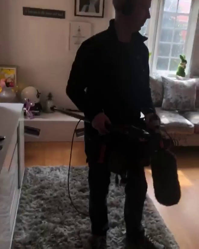 Gemma shared a video where you can see a camera crew in the living room