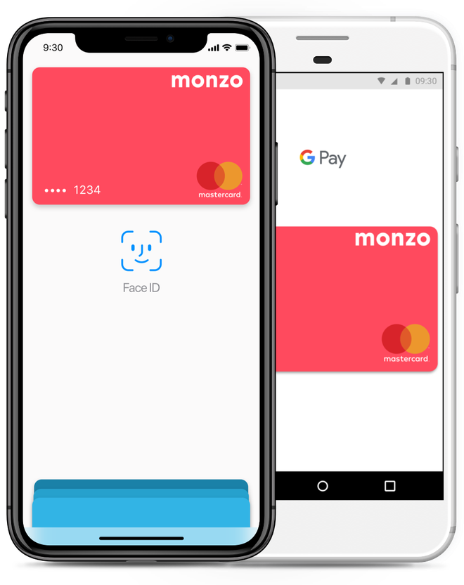 Monzo can be used via ApplePay as well