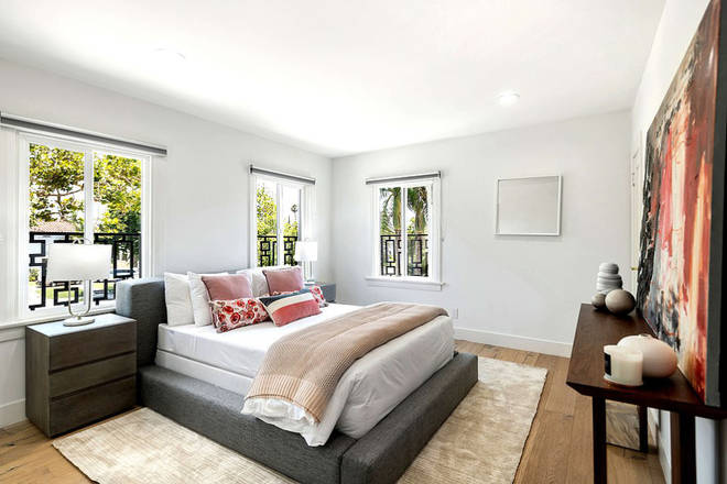 The swanky bedrooms have VERY comfortable looking beds