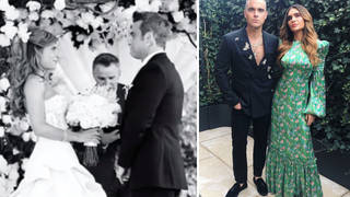 Ayda Field gives fans a glimpse into her romantic wedding day to Robbie Williams.