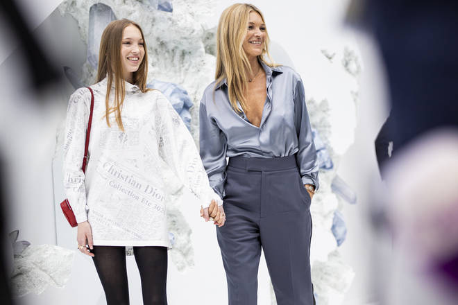 Kate and Lila at Paris Fashion Week