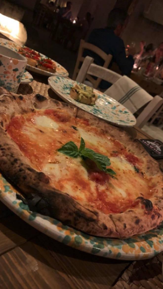 The Beckhams enjoyed an Italian feast
