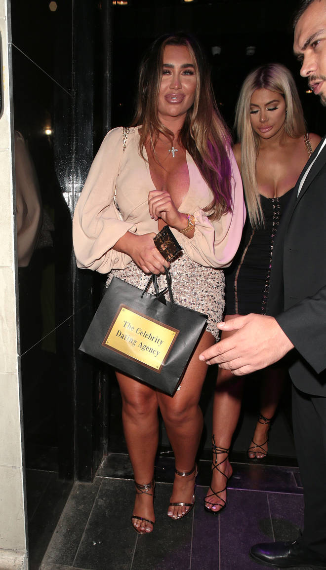 Lauren looked worse for wear leaving the nightclub late on Wednesday evening