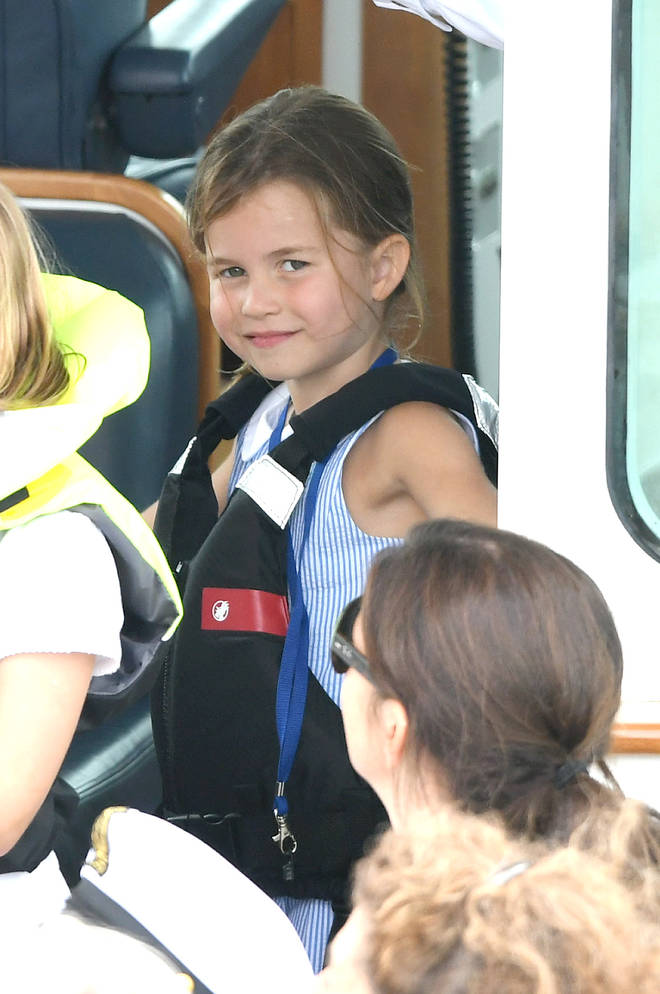 Princess Charlotte was also on the boat with her grandfather