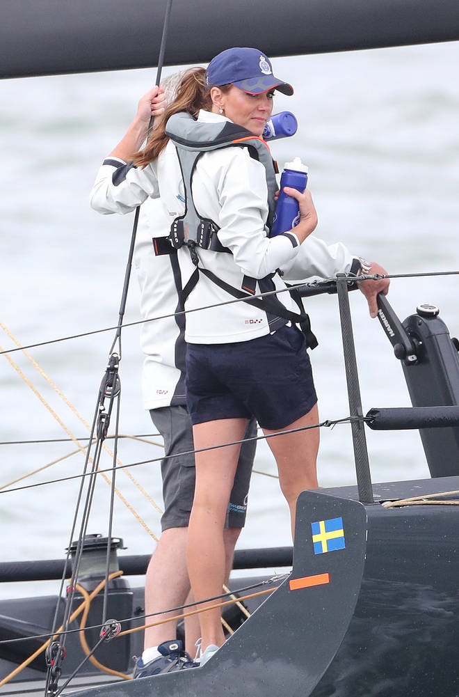 Kate Middleton competed in the sailing regatta, as did Prince William