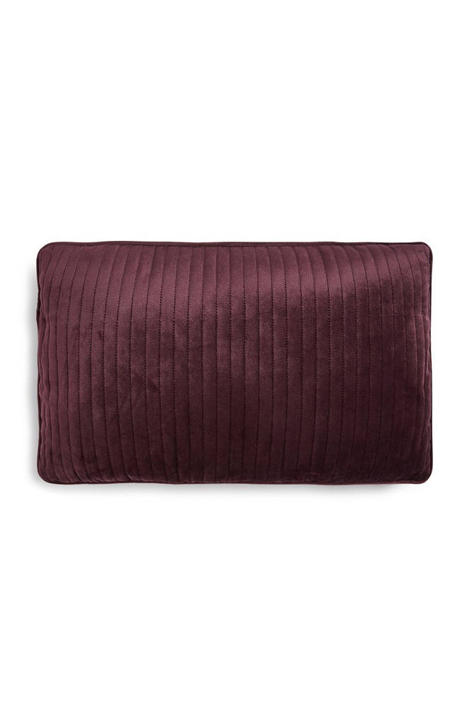 Velvet cushion (also available in mustard yellow and dusky pink), £5