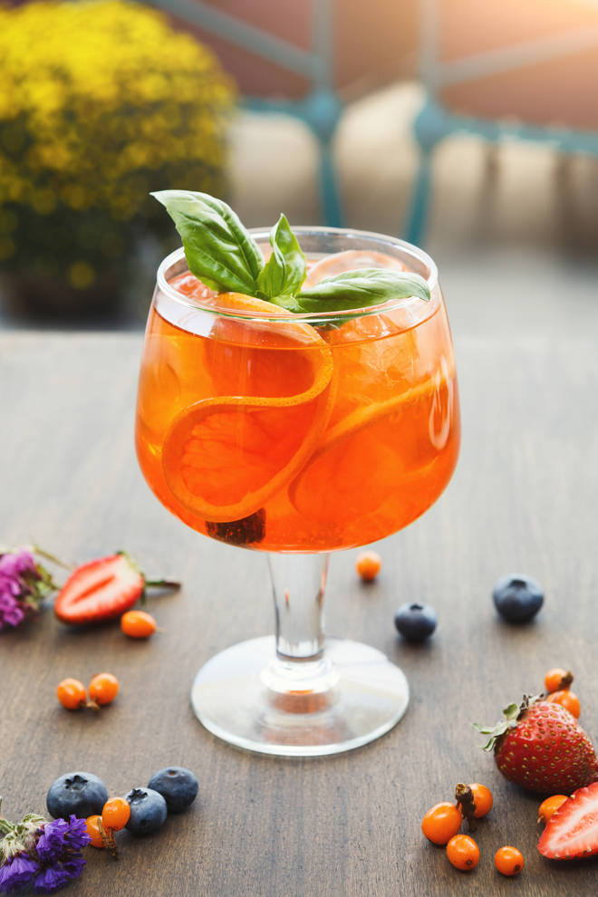 The Arancia Spritz is a twist on a classic Aperol version
