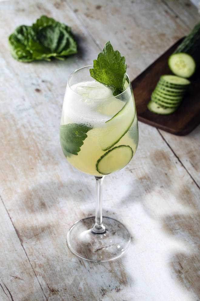 Shiso leaves gives this rum-based spritz an usual twist