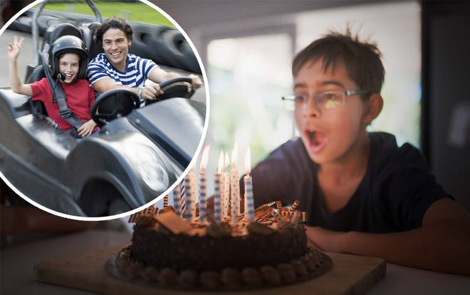 The go-karting birthday party cost a pretty penny