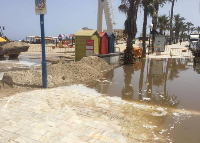 56,000 litres of raw sewage flooded Costa Blanca this week