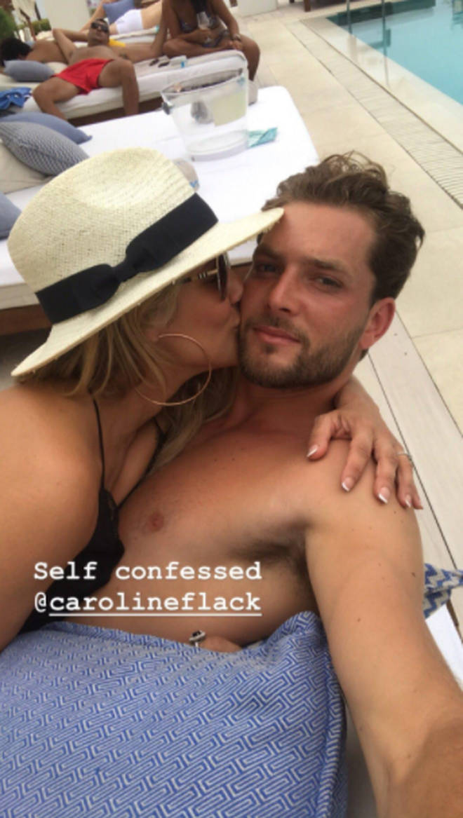 Caroline has been dating tennis player Lewis for a few weeks
