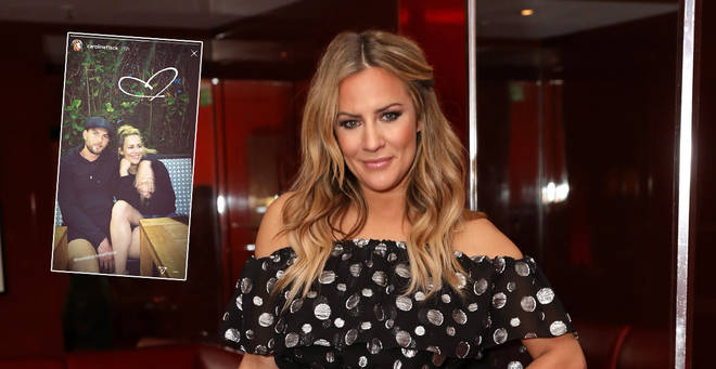 Caroline Flack is loved-up with her new boyfriend Lewis